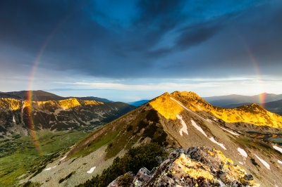 "FreeDigitalPhotos.net, ""Rainbow Over The Mountain"" by Evgeni"